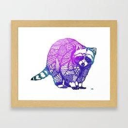 Zentangle Raccoon  Framed Art Print