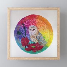 Lakshmi's Vahana ( Bird Whisperer Project Owl ) Framed Mini Art Print