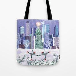Christmas Park Tote Bag