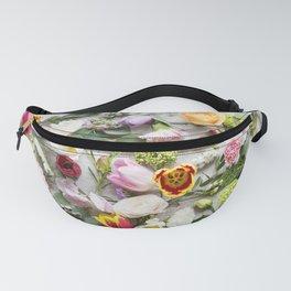 Colorful Boho Floral Layout Design Fanny Pack