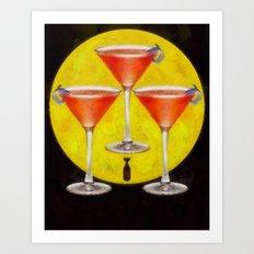 atomic martini sunrise Art Print