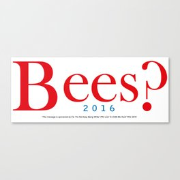 Bees? Presidential Campaign Jeb/Gob Canvas Print