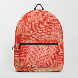Bright red leaves Backpack
