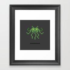 Cthulhu Invader Framed Art Print
