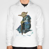 yoda Hoodies featuring Yoda by pabpaint