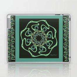 Hope Mandala with Border - Green Black Laptop & iPad Skin