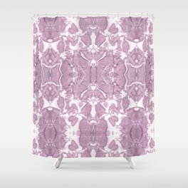 Shibori Rose Crepe De Chine Shower Curtain