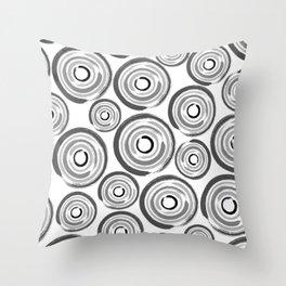 Enso Circles - Zen Circles pattern #1 Throw Pillow