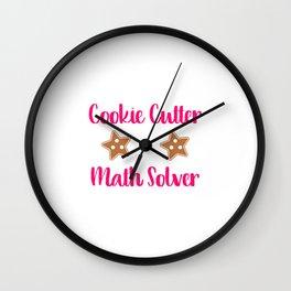 Cookie Math Solver Fun Christmas Teacher Wall Clock