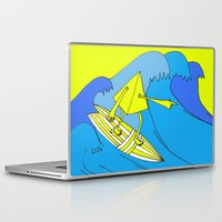 surfer Laptop & iPad Skins featuring Surfer by melanie johnsson