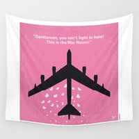 kubrick Wall Tapestries featuring No025 My Dr Strangelove minimal movie poster by Chungkong