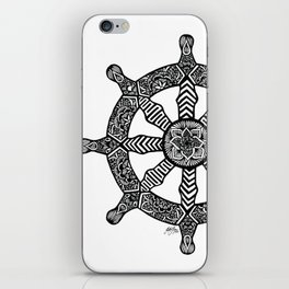 Zentangle - Dharma Wheel  iPhone Skin