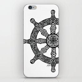 Zentangle - Dharma Wheel  iPhone Skin