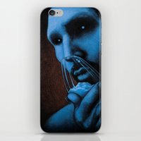cocaine iPhone & iPod Skins featuring Cocaine Blue by Michal Szyksznian