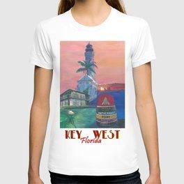 Key West Florida Southernmost Dreams Retro Travel Vintage Poster T-shirt
