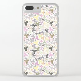 Spinners Pattern Clear iPhone Case