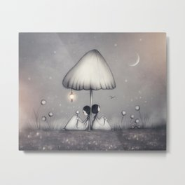 Little Talks At Twilight Metal Print