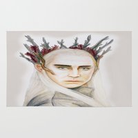thranduil Area & Throw Rugs featuring Thranduil by Olivia Nicholls-Bates