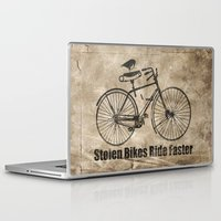 bikes Laptop & iPad Skins featuring stolen bikes... by Seamless