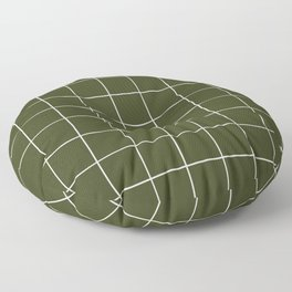 Grid (Olive Green) Floor Pillow
