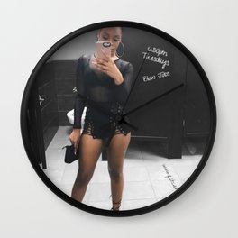 New York Subway Ghetto Girl looking for Work, Money Wall Clock