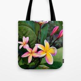 Hawaiian Plumeria at Sunrise Tote Bag