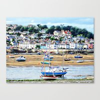 boats Canvas Prints featuring Boats by  Alexia Miles photography