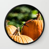 vegetable Wall Clocks featuring  autumn vegetable by Karl-Heinz Lüpke
