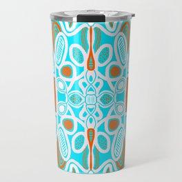 commune mandala, turquoise Travel Mug