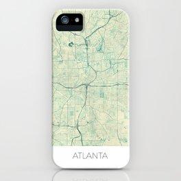 Atlanta Map Blue Vintage iPhone Case