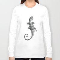 lizard Long Sleeve T-shirts featuring lizard by Emma Reznikova