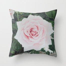 Katie's Rose Throw Pillow
