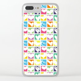 HEARTS A PLENTY Clear iPhone Case