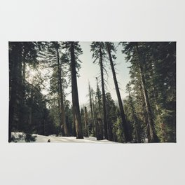 Winter Sequoia Forest Rug
