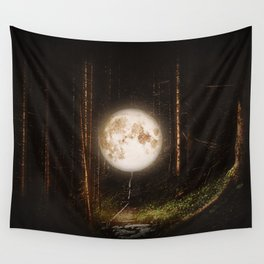 Visiting The Forest Wall Tapestry