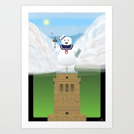 Statue of Stay Puft - Happy Art Print