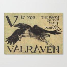 Alphabestiary V - Valraven Canvas Print