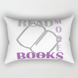 READ MORE BOOKS in purple Rectangular Pillow
