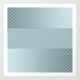 Blue mother of pearl Art Print