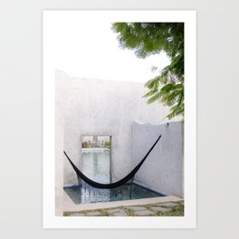 Relax & Recharge - Mindful Corner in Mexico Art Print