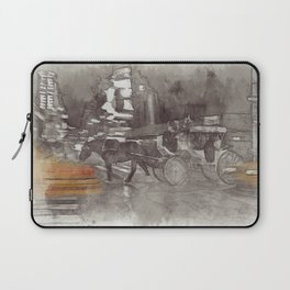NYC Yellow Cabs Horse Car - SKETCH Laptop Sleeve