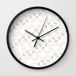 Illuminated Structure: Clear Quartz Point Solo Wall Clock