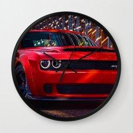 Hugger Orange Challenger SRT Hellcat MOPAR Muscle Car Wall Clock