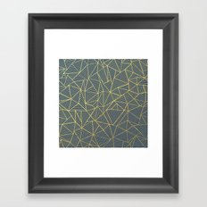 Ab Lines Gold and Navy Framed Art Print