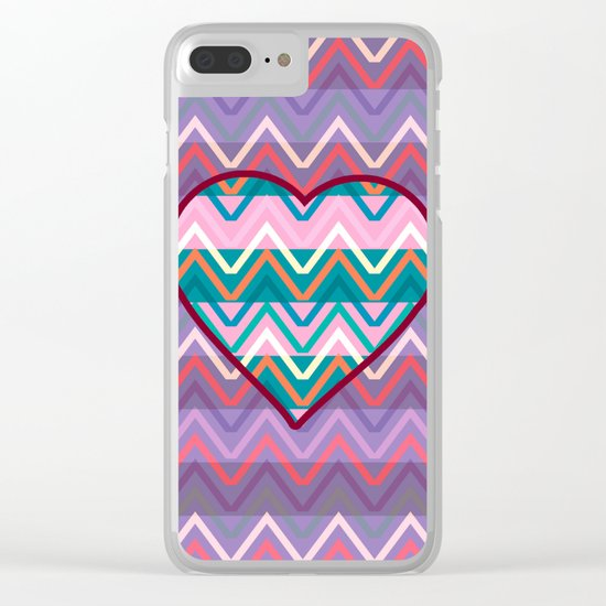 Heart chevron Clear iPhone Case