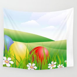 easter eggs Wall Tapestry