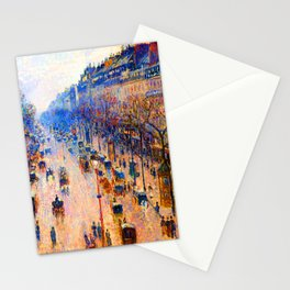 Camille Pissarro Boulevard Montmartre Winter Stationery Cards