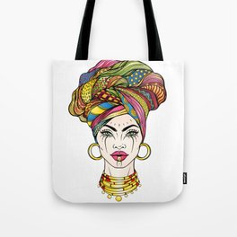 African Woman's Portrait Tote Bag