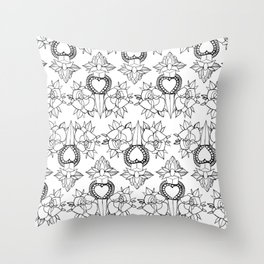 Tattoo design pattern Throw Pillow
