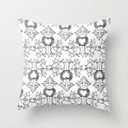 Tattoo design pattern Throw Pillow